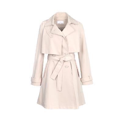 slim line trench coat beige